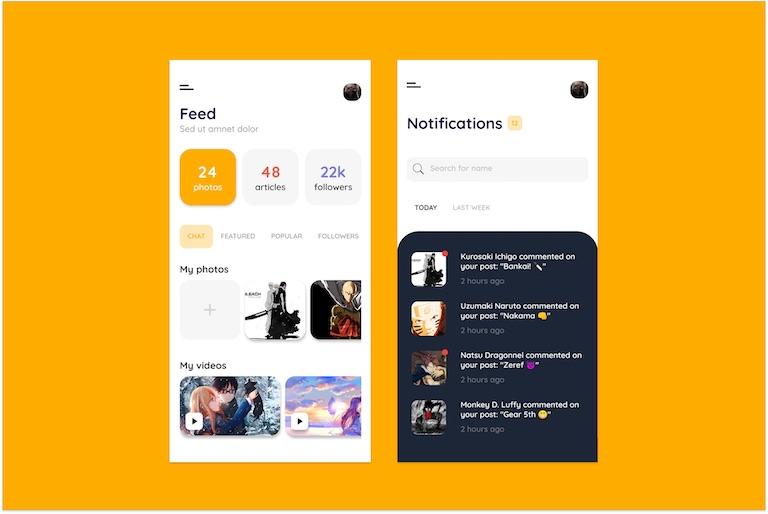 Flutter Ghana UI Challenge Week 1 - Social Media App
