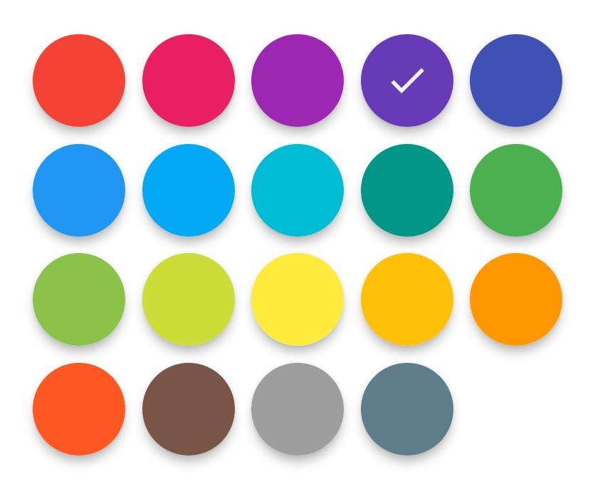 Flutter Material Color Picker