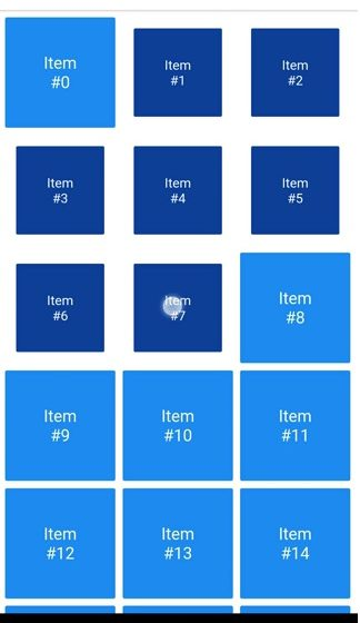 A grid that supports both dragging and tapping to select its items