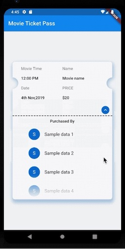 A Flutter package to display the purchase of a ticket/pass along with additional details such as list of buyers