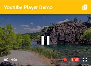 Flutter plugin for playing or streaming YouTube videos inline using the official iFrame Player API